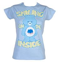Ladies Grumpy Bear Smiling On The Inside Care Bears T-Shirt
