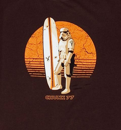 EXCLUSIVE Men's Star Wars Surfing Storm Trooper T-Shirt from Chunk!