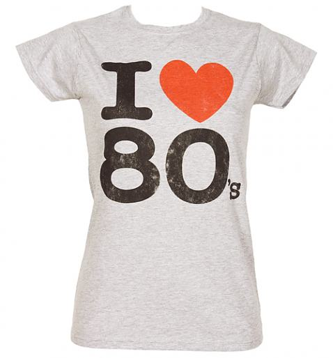 Grey Ladies I Heart The 80's T-Shirt from Fame and Fortune £20.00