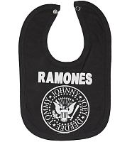 Kids Charcoal Ramones Logo Bib from Amplified Kids