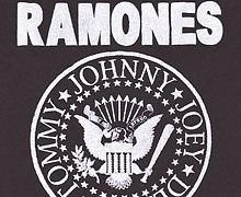 Kids Charcoal Ramones Logo T-Shirt from Amplified Kids