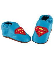Kids Superman Leather Detail Booties from Fabric Flavours