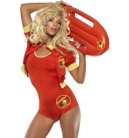 Ladies Baywatch Lifeguard Fancy Dress Costume
