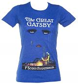 Ladies Blue F. Scott Fitzgerald The Great Gatsby Novel T-Shirt from Out Of Print