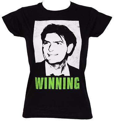 charlie sheen winning shirt. Ladies Charlie Sheen Winning