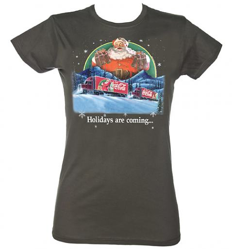 Ladies Holidays Are Coming Coca Cola Truck T-Shirt from TruffleShuffle £20.00