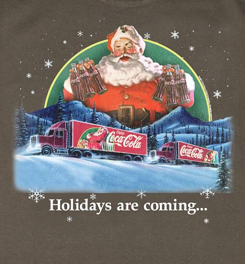 Holidays Are Coming Coca Cola Truck T-Shirt from TruffleShuffle £20.00