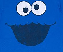 Ladies Cookie Monster Face Sesame Street T-Shirt