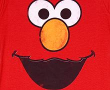 Ladies Elmo Face Sesame Street T-Shirt