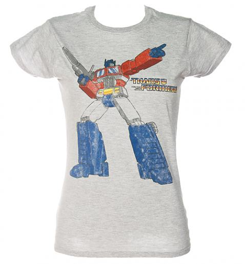 Ladies Grey Transformers T-Shirt from Fame and Fortune £20.00