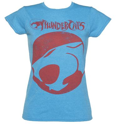 Blue Thundercats on Ladies Heather Blue Thundercats Logo T Shirt From Sticks And Stones
