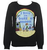 Ladies I Live On Button Moon Sweater