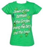 Ladies Poddington Peas Down At The Bottom Of The Garden T-Shirt