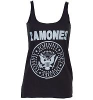 Ladies Ramones Logo Strappy Vest from Amplified Vintage