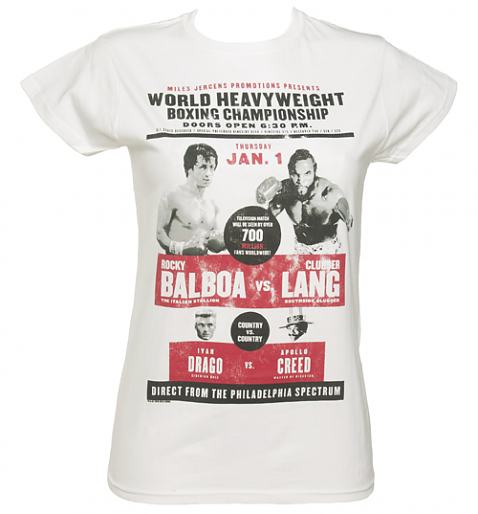Ladies Rocky Balboa vs Clubber Lang T-Shirt