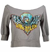 Ladies Van Halen Off The Shoulder Fleece Sweat from Chaser LA