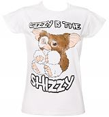 Ladies White Gizzy Is The Shizzy Gremlins T-Shirt from Sticks and Stones