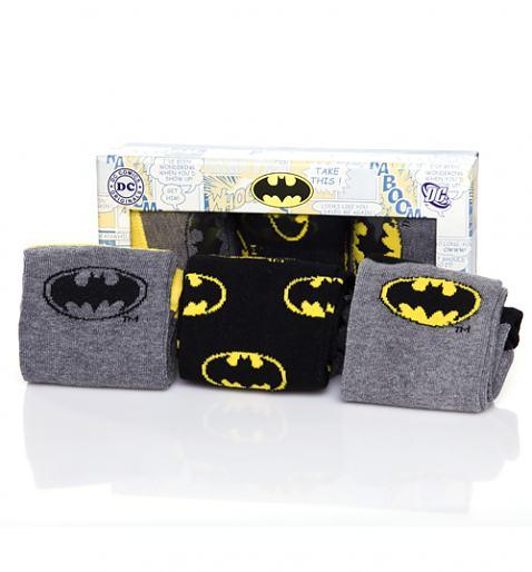 Men's 3pk Batman Assorted Socks Gift Set £12.99
