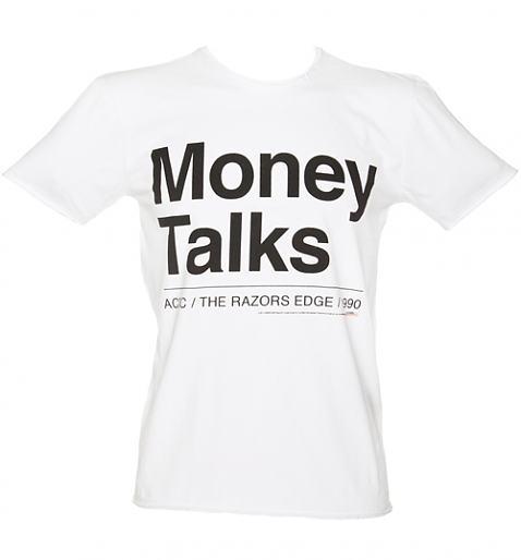 Men's AC/DC Money Talks Lyrics T-Shirt from Amplified Clothing £25.00