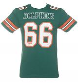 Men's Green NFL Miami Dolphins Lineman T-Shirt from Majestic Athletic