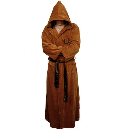 Men's Hooded Star Wars Jedi Warrior Dressing Gown