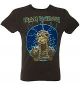 Men's Iron Maiden Mummy Charcoal T-Shirt from Amplified Vintage