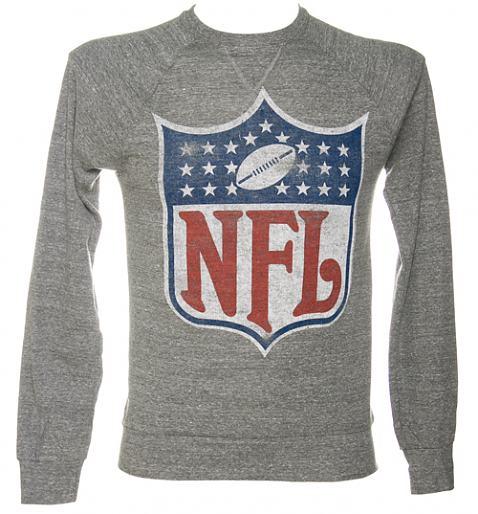 Men's NFL Crest Logo Grey Triblend Pullover from Junk Food £32.99 +£1.95 P&P