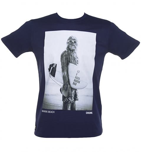 Men's Navy Star Wars Wookie Surfer T-Shirt from Chunk £27.99