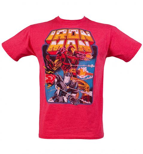 Men's Red Iron Man T-Shirt from Junk Food £24.99