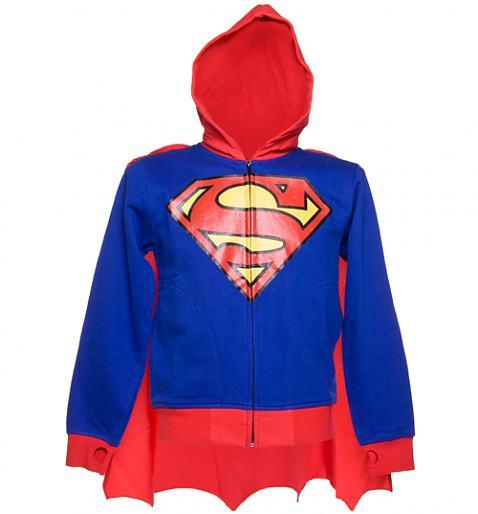Men's Superman Caped Costume Hoodie