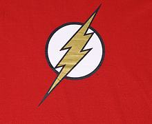 Men's The Flash Classic Lightning Logo T-Shirt from Urban Species