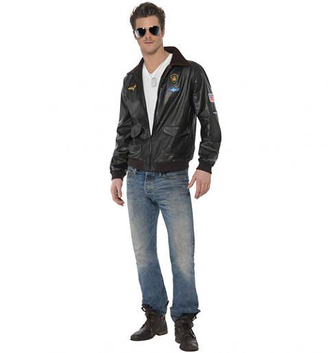 Men's Top Gun Maverick Bomber Jacket Fancy Dress Costume