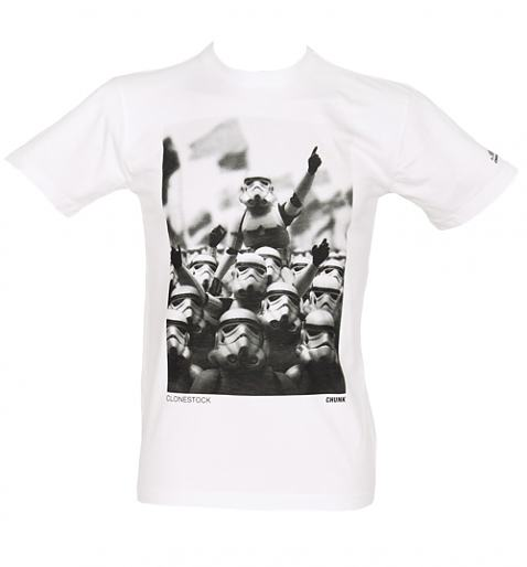 Men's White Clonestock T-Shirt from Chunk £27.99