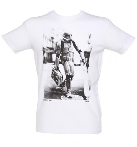 Men's White Star Wars Boombox Trooper T-Shirt