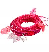 Pink Princess Stacker Charm Bracelet from Bits and Bows