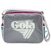 Silver and Pink Redford Sparkle Shoulder Bag from Gola