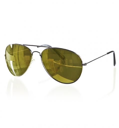 Retro Mirror Lens Aviator Sunglasses