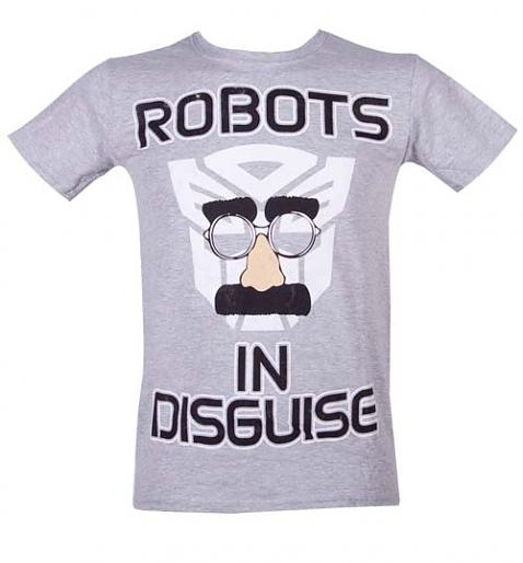 Men's Transformers In Disguise Grey T-Shirt from Fame and Fortune £20.00