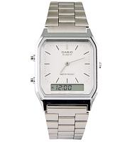 Silver Retro Dual Time Watch from Casio