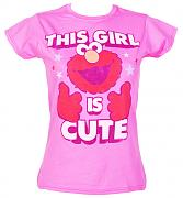 This Girl Is Cute Ladies Elmo T-Shirt