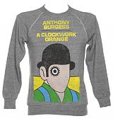 Unisex Grey Marl Anthony Burgess A Clockwork Orange Novel Sweatshirt from Out Of Print