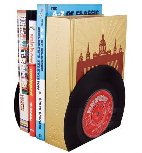 Vintage Style Vinyl Book Ends